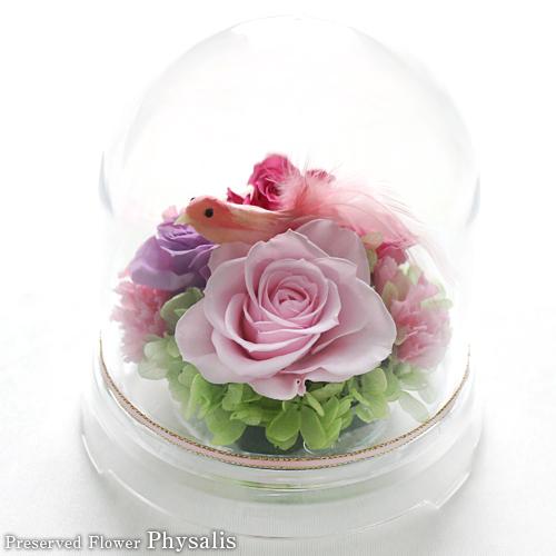ガーデンドーム(ピンク)|プリザーブドフラワー専門店フィサリス